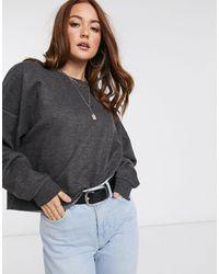 Mango Oversized Sweatshirt - Grijs
