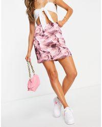 NA-KD Co-ord Satin Mini Skirt - Pink