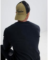 ASOS - Gorra estilo baseball en caqui con bordado Freedom de - Lyst