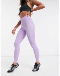 ASOS 4505 Леггинсы С Завышенной Талией И Блестками -фиолетовый - Пурпурный