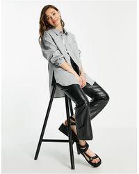 TOPSHOP Camicia giacca sartoriale - Grigio