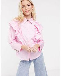 Notes Du Nord Oakley Ruffle Shirt - Pink