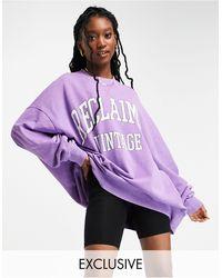 Reclaimed (vintage) Inspried Unisex Sweat - Purple