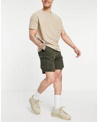 Pull&Bear – Cargo-Shorts - Grün