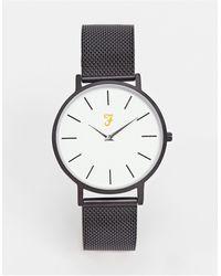 Farah Часы С Узким Сетчатым Браслетом -черный
