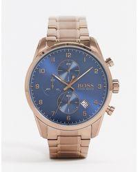 BOSS 1513788 - Montre-bracelet chrono - Café doré - Métallisé