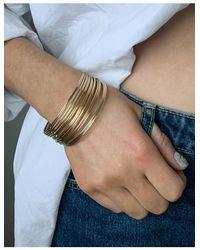 ASOS Pack Of 20 Fine Bangle Bracelets - Metallic