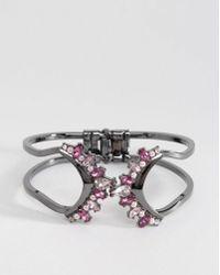 Oasis Ombre Petal Cuff Bracelet - Multicolour