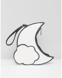 Daisy Street - Glitter Effect Moon Clutch Bag - Lyst