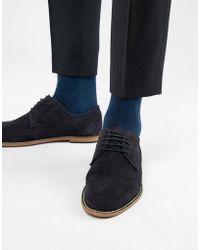 KG by Kurt Geiger Kg By Kurt Geiger Derby Shoes In Navy Suede