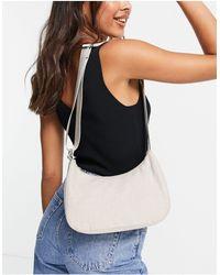 Weekday Zarri Linen Shoulder Bag - Blue