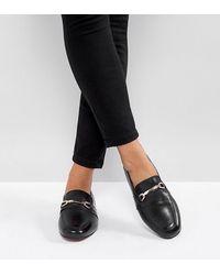 ASOS Movement - Leren Loafers Met Brede Pasvorm - Zwart