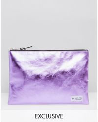 Hype - Exclusive Pouch In Metallic Baby Pink - Lyst