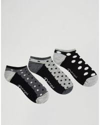 Original Penguin - 3 Pack Dotty Trainer Socks - Black - Lyst