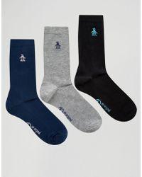 Original Penguin - 3 Pack Ankle Socks - Lyst