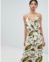 Y.A.S - Tropical Wrap Maxi Dress - Lyst