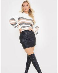 In The Style Minifalda negra utilitaria - Negro