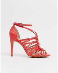 New Look Woven Strapping Detail Sandal - Orange