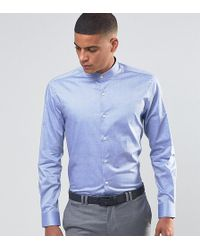 Number Eight Savile Row - Skinny Grandad Shirt - Lyst
