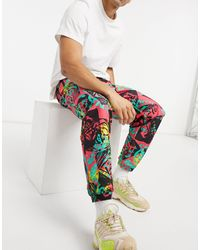 adidas Originals - Флисовые Джоггеры Со Сплошным Принтом От Комплекта -красный - Lyst