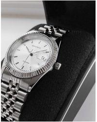 Sekonda Montre-bracelet à mouvement chronographe et cadran vert - Métallisé