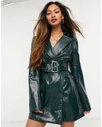 s t e e l e. Verona Blazer Dress - Green