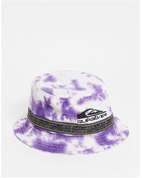 Quiksilver Фиолетовая Панама Из Вельвета С Принтом Тай-дай Og-фиолетовый Цвет - Пурпурный
