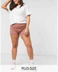 Fashionkilla Knitted Runner Short - Pink