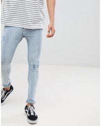 Just Junkies - Skinny Fit Mid Distressed Wash Jeans - Lyst