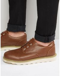 Bellfield D-struct Oxford Shoes In Tan Leather - Brown