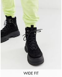 ASOS - Wide Fit Lace Up Boot - Lyst