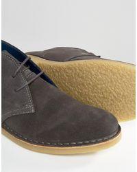 Dune Calabassas Suede Chukka Boots - Grey