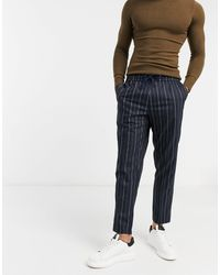 New Look Smart Pants With Elasticated Waist - Blue