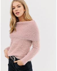 Glamorous Джемпер С Открытыми Плечами -розовый