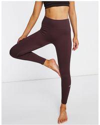 ASOS 4505 Бесшовные Леггинсы -коричневый - Пурпурный