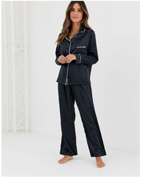 Bluebella Claudia Satin Pyjama Set - Black
