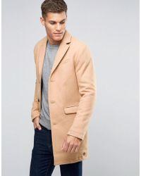 Esprit Wool Overcoat - Multicolour