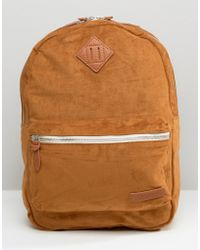 Pull&Bear Sueduette Backpack In Camel - Tan - Multicolour