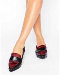 Daisy Street - Zebra Print Loafers - Lyst