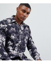 Replay - All Over Floral Slim Fit Shirt - Lyst