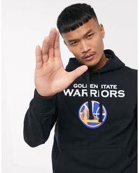 KTZ Nba Golden State Warriors Logo Hoodie - Black