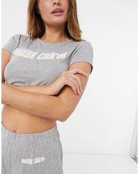 """Missguided Pigiama grigio con T-shirt e pantaloni con scritta """"Bride"""""""
