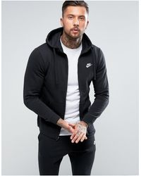 Nike Club - Hoodie avec fermeture à glissière - Noir