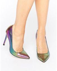 Faith Chloe Pearlescent Court Shoes - Multicolour