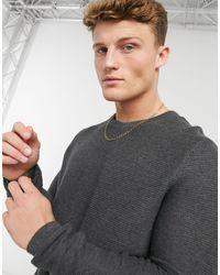 Tom Tailor Maglione girocollo lavorato a maglia grigio - Bianco