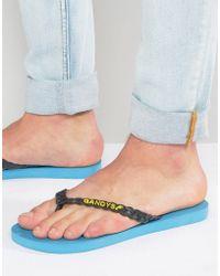 Gandys - Flip Flops In Deep Sea Blue - Lyst