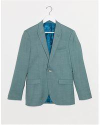 TOPMAN Зеленый Однобортный Пиджак Зауженного Кроя -зеленый Цвет