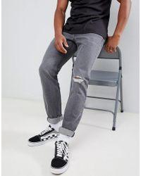 Lee Jeans - Rider Slim Jeans Grey Trashed - Lyst