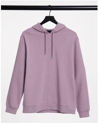 ASOS - Sudadera con capucha violeta - Lyst