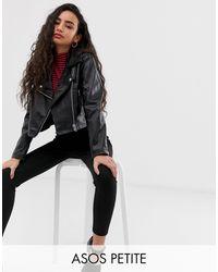 ASOS Ultimate Biker Jacket - Black
